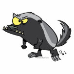 mean honey badger cartoon character photo cut out