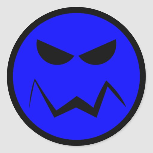 Mean Mister Smiley Face Sticker