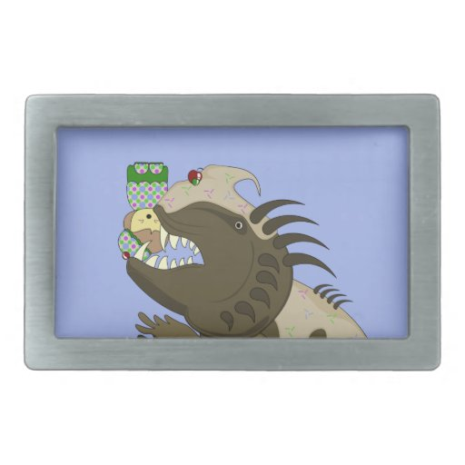Mean Monster With Kawaii Person Belt Buckle