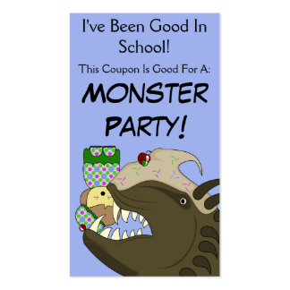 Mean Monster With Kawaii Person Double-Sided Standard Business Cards (Pack Of 100)