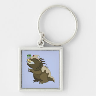 Mean Monster With Kawaii Person Key Chains