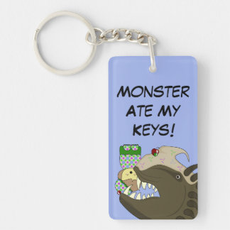 Mean Monster With Kawaii Person Keychains