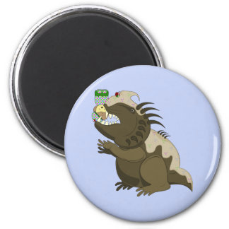 Mean Monster With Kawaii Person Refrigerator Magnets