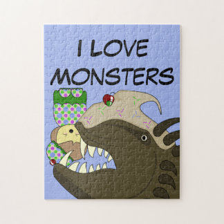 Mean Monster With Kawaii Person Puzzle