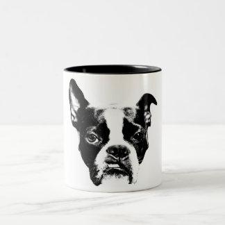 Mean Muggin! Boston Terrier Attitude Two-Tone Coffee Mug