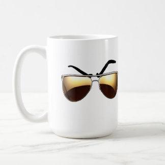 Mean Muggin' With Aviators Coffee Mug