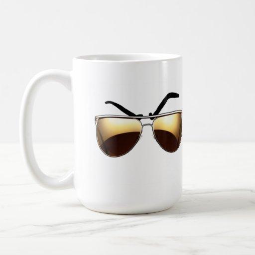 Mean Muggin' With Aviators Coffee Mugs