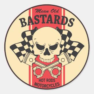 Mean Old Bastards Classic Round Sticker