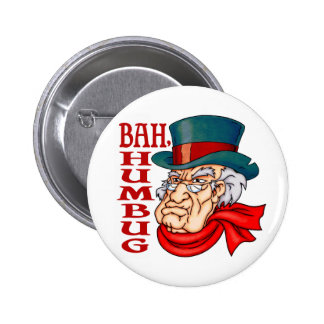Mean Old Scrooge 2 Inch Round Button