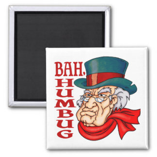 Mean Old Scrooge 2 Inch Square Magnet