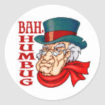 Mean Old Scrooge Classic Round Sticker
