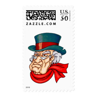 Mean Old Scrooge Postage