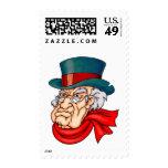 Mean Old Scrooge Stamp