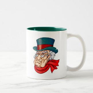 Mean Old Scrooge Two-Tone Coffee Mug