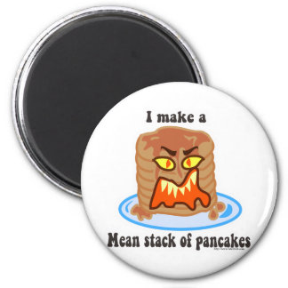 Mean Pancake 2 Inch Round Magnet
