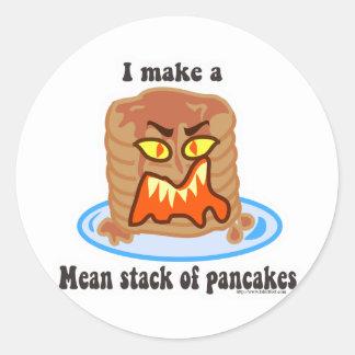 Mean Pancake Classic Round Sticker