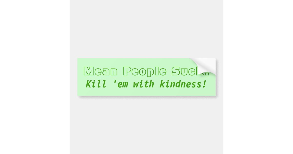 Rude people suck bumper sticker