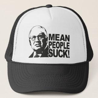 Mean People Suck Trucker Hat