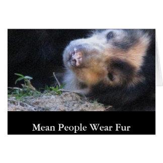 Mean People Wear Fur Card