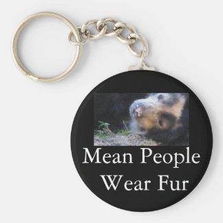 Mean People Wear Fur Keychain