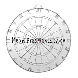 Mean Presidents Suck Dart Board