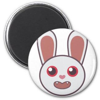 Mean Rabbit 2 Inch Round Magnet