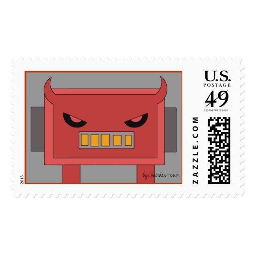 Mean Robot Stamp