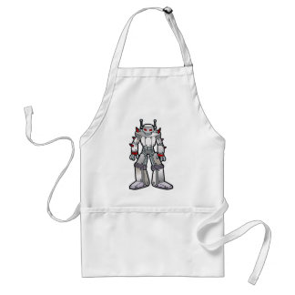 Mean Robot with Spikes Adult Apron