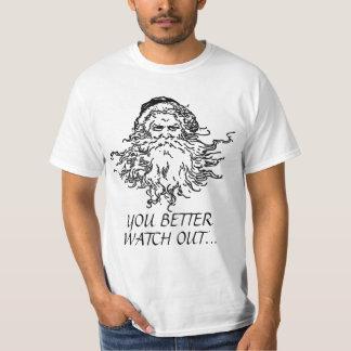 Mean Santa Clause Funny Shirt