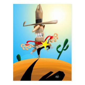 Mean Sheriff Postcard