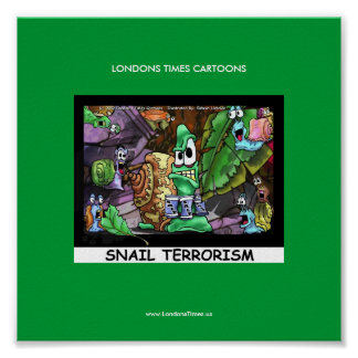 Mean Snails Funny Londons Times Cartoon Poster