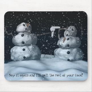 Mean Snowman Mousepad
