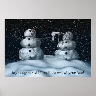 Mean Snowman Print