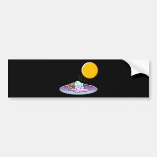 Mean Sun Melts Ice Cream Car Bumper Sticker