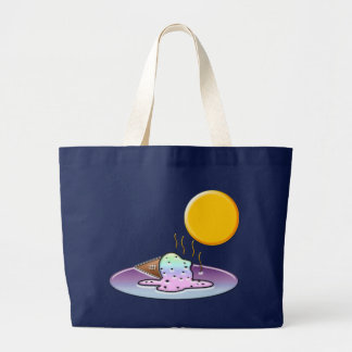 Mean Sun Melts Ice Cream Large Tote Bag