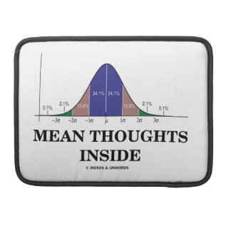 Mean Thoughts Inside (Statistics Humor) Sleeve For MacBooks