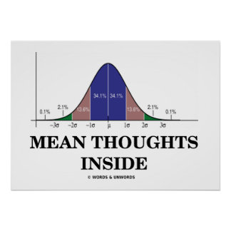 Mean Thoughts Inside (Statistics Humor) Poster