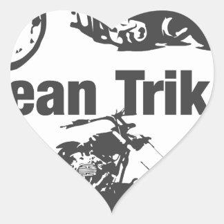 mean trikes heart sticker