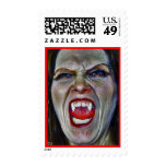 Mean Vampire Postage Stamp