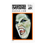 Mean Vampire(side view)-Postage Stamp