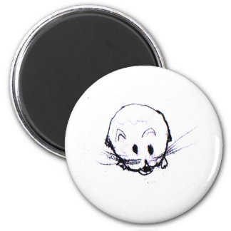 Mean Vicious Hamster Friend 2 Inch Round Magnet