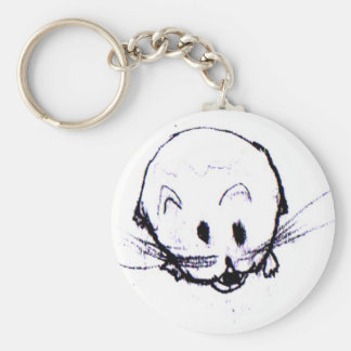 Mean Vicious Hamster Friend Keychain