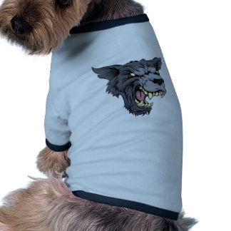 Mean wolf or werewolf dog t-shirt