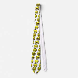 Mean yellow face smiley tie