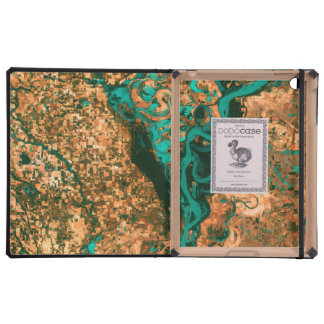 Meandering Mississippi Satellite Image iPad Covers
