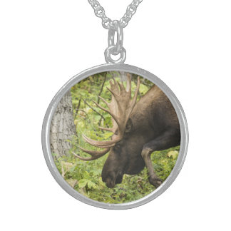 Meandering Moose Sterling Silver Necklace