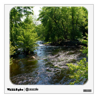 Meandering Pushaw Stream, West Old Town, Maine Room Sticker