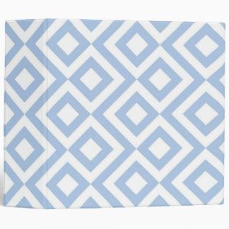 """Meandro azul claro y blanco carpeta 2"""""""