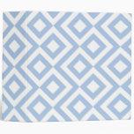 Meandro azul claro y blanco carpeta 5 cm