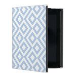 Meandro azul claro y blanco iPad carcasa